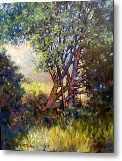 Landscape Metal Print featuring the painting Grateful Mulberry by Kevin Lawrence Leveque