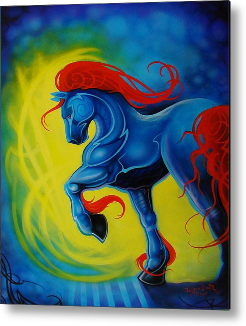 Horse Metal Print featuring the painting Horse by Joshua South