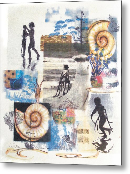 Abstract Metal Print featuring the painting Lajolla by Valerie Meotti