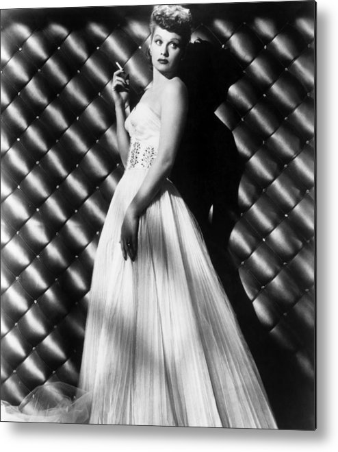 1950s Portraits Metal Print featuring the photograph Lucille Ball, Ca. 1950s by Everett