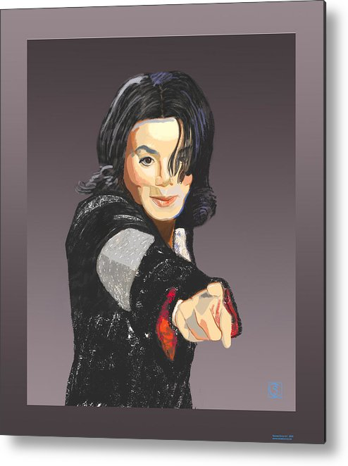 Michael Jackson Metal Print featuring the painting Michael Jackson-tell It Like It Is by Suzanne Cerny