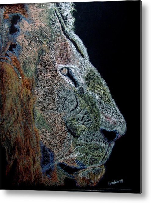 Animals Metal Print featuring the painting Misunderstood by Glory Fraulein Wolfe