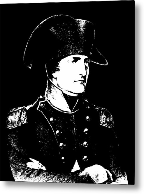 Napoleon Metal Print featuring the digital art Napoleon Bonaparte by War Is Hell Store