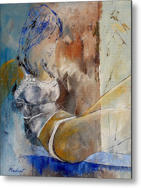 Nude Metal Print featuring the painting Nude 67524236 by Pol Ledent