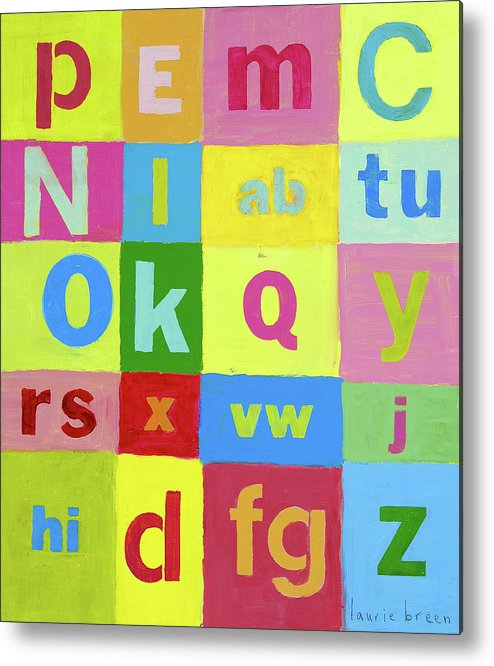 Painting For Nursery Metal Print featuring the painting Okay Abcs by Laurie Breen