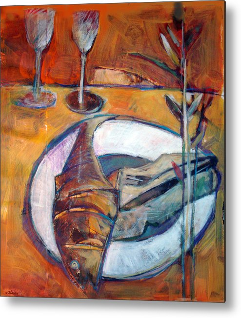 Still Life Metal Print featuring the digital art Reheated by Dale Witherow