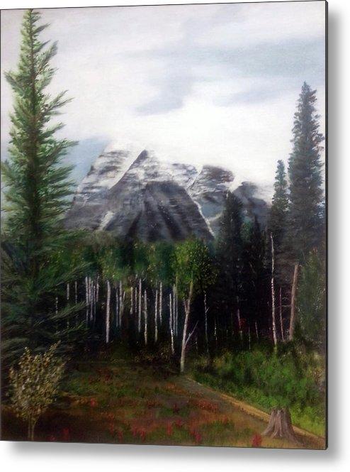 Mountain Metal Print featuring the painting Robson's Spirit by Stuart Kenn