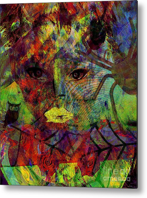 Fania Simon Metal Print featuring the mixed media Sight And Recollection by Fania Simon