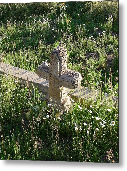 Landscape Metal Print featuring the photograph Stone Cross by Peter McIntosh
