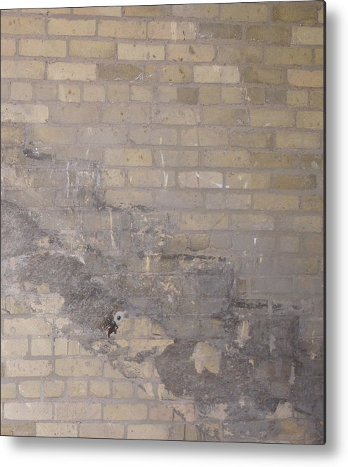 Brick Metal Print featuring the photograph The Brick Wall - Historic Bldg by Janis Beauchamp