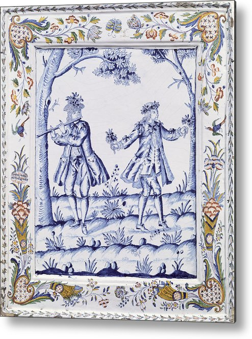 Plaque Metal Print featuring the painting The Magic Flute by French School