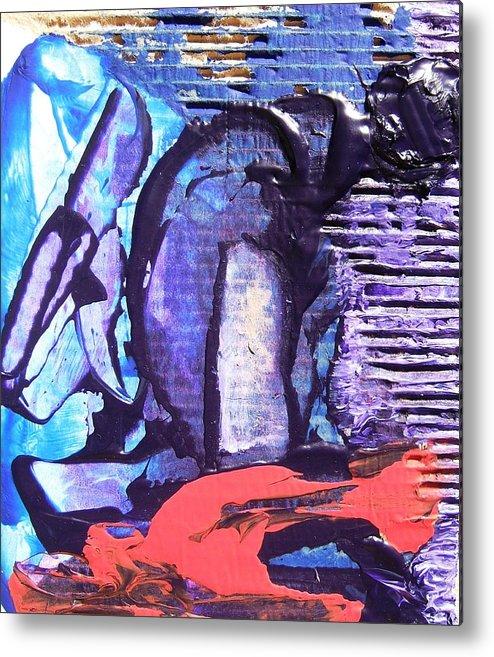 Realistic Metal Print featuring the painting The Worker by Bruce Combs - REACH BEYOND