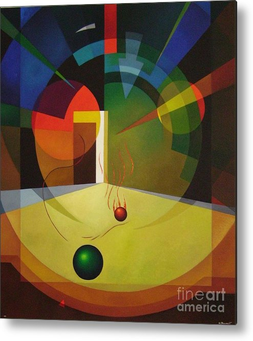 Abstract Metal Print featuring the painting Unexpected Show by Alberto DAssumpcao