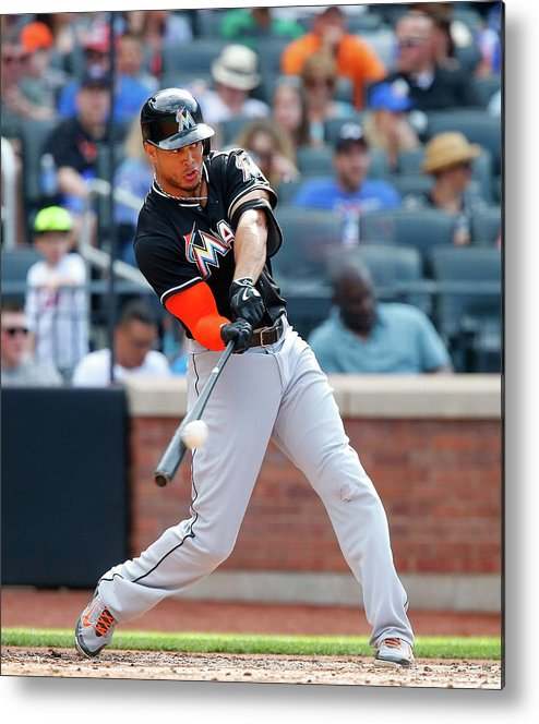 People Metal Print featuring the photograph Giancarlo Stanton by Jim Mcisaac
