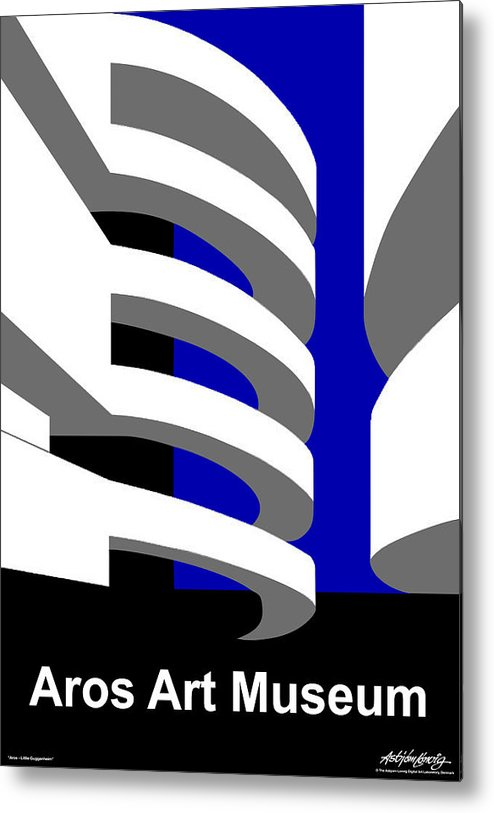 Aros Art Museum Metal Print featuring the digital art Aros Art Museum by Asbjorn Lonvig