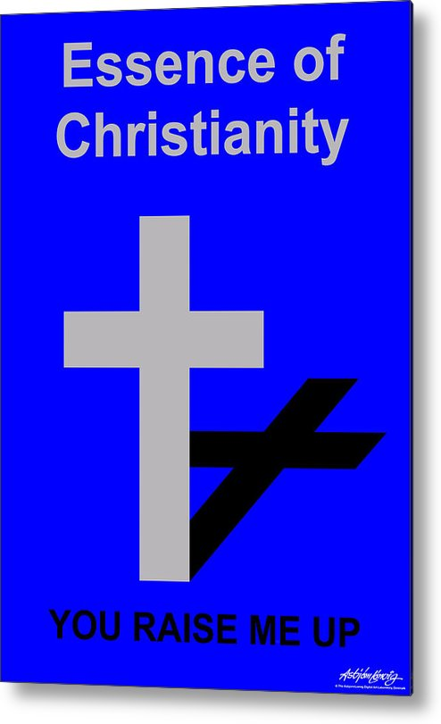 Christ Metal Print featuring the digital art Essence Of Christianity by Asbjorn Lonvig