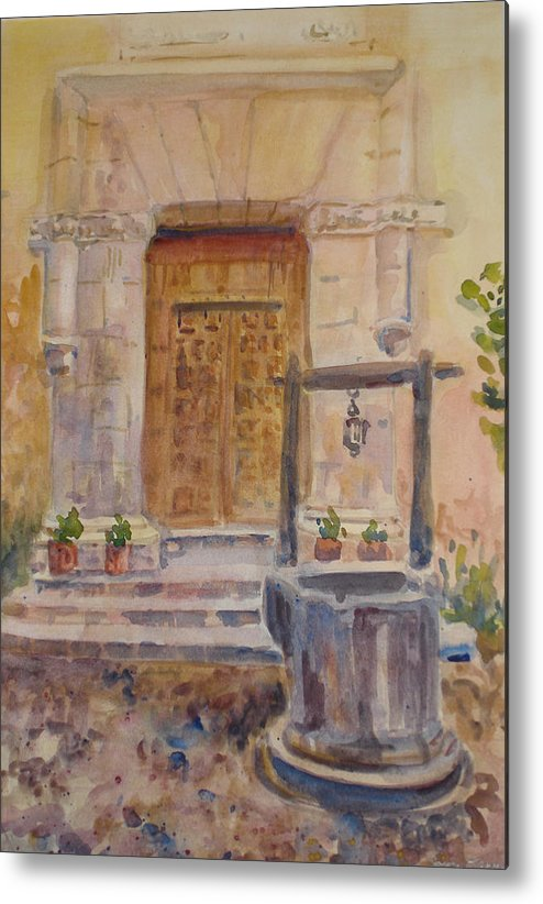 Doorway Metal Print featuring the painting Chris Coloh House Well by Joyce Kanyuk
