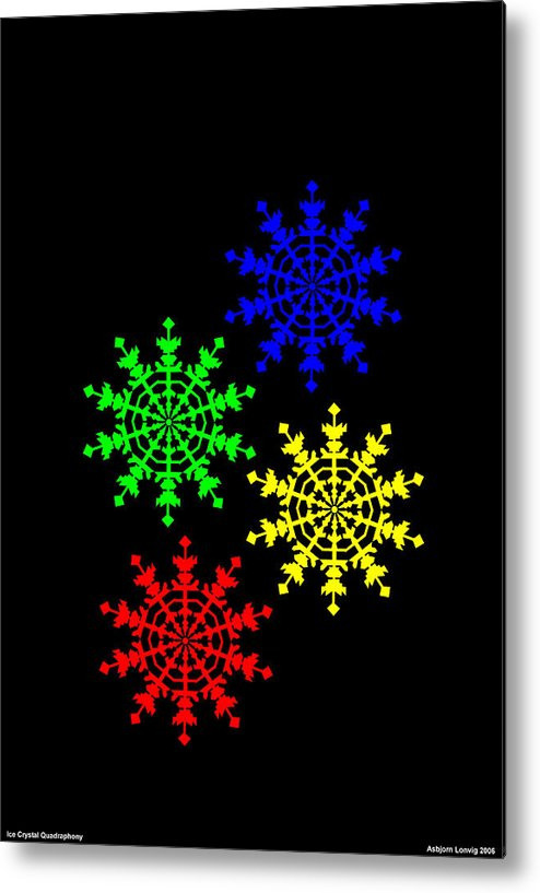Ice Crystal Metal Print featuring the digital art Ice Crystal by Asbjorn Lonvig