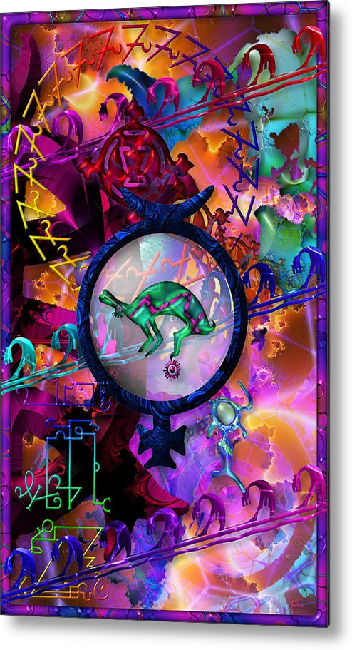 Symagery Metal Print featuring the digital art Symagery 23 by Kenneth Armand Johnson