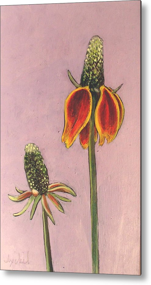 Flower Metal Print featuring the painting Wildflower 1 by Ixchel Amor