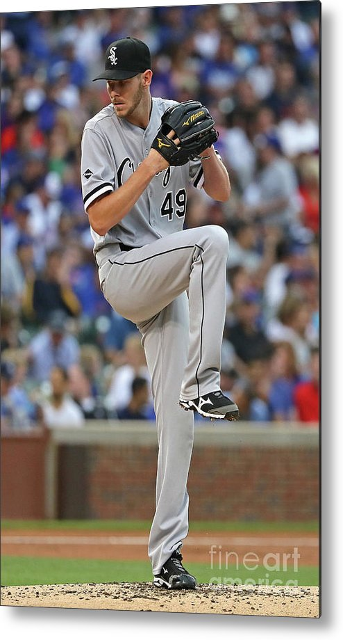 People Metal Print featuring the photograph Chris Sale by Jonathan Daniel