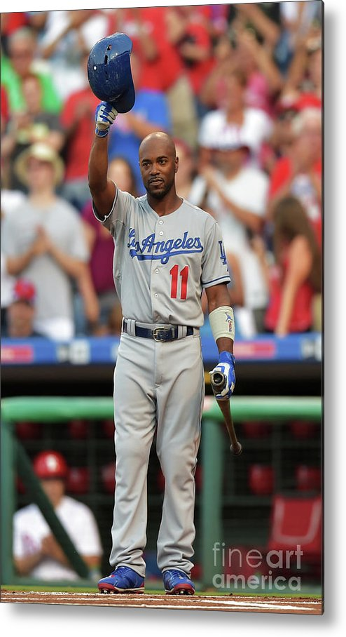 Crowd Metal Print featuring the photograph Jimmy Rollins by Drew Hallowell