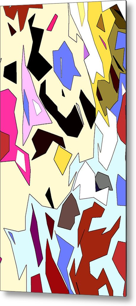 Abstract Metal Print featuring the digital art Perhaps Departure Panel One Of Four by Linda Mears