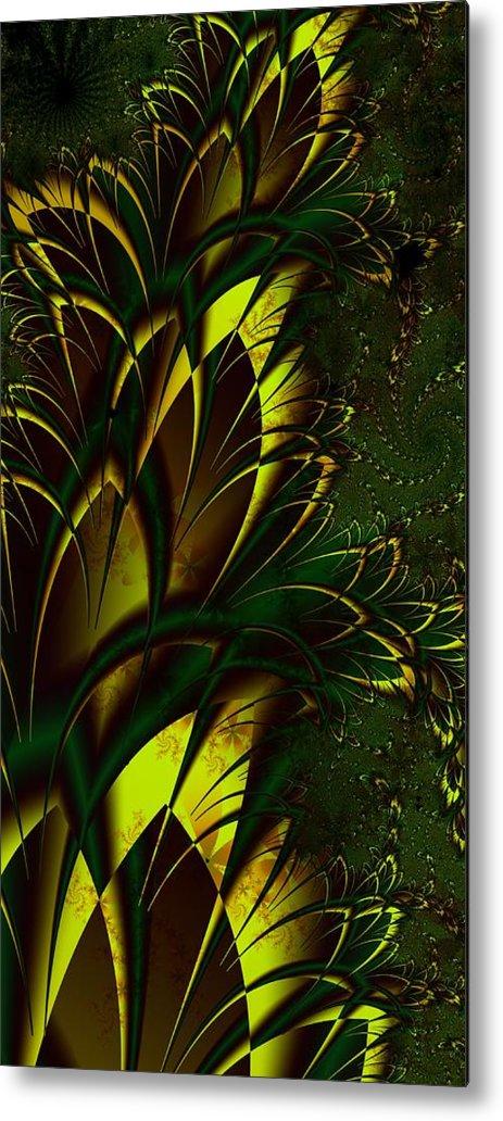 Digital Art Metal Print featuring the digital art Summer Frenzy by Amanda Moore