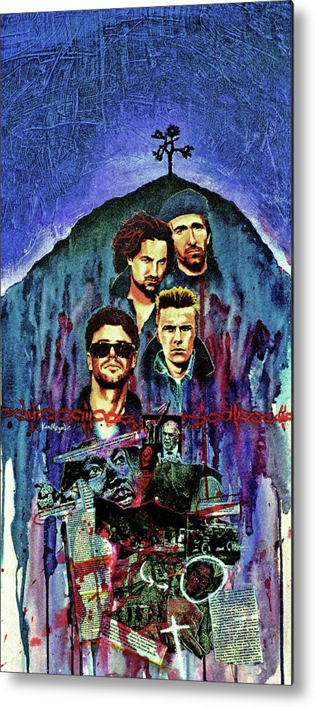 U2 Metal Print featuring the painting U2 by Ken Meyer jr