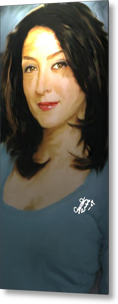 Ncis Metal Print featuring the painting Ncis kate by Crystal Webb