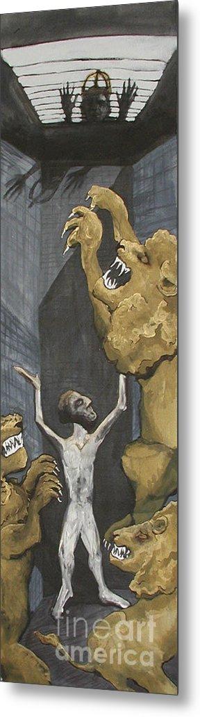 Daniel Metal Print featuring the painting Daniel by Sarah Goodbread