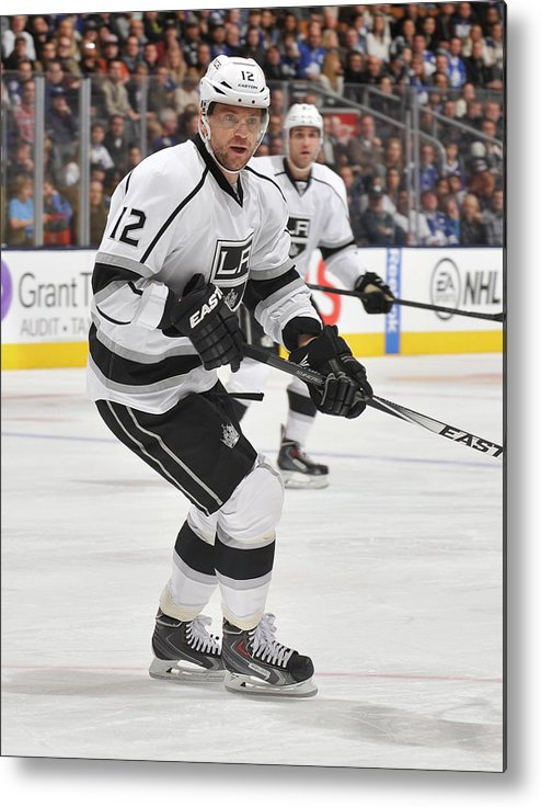 National Hockey League Metal Print featuring the photograph Los Angeles Kings V Toronto Maple Leafs by Graig Abel