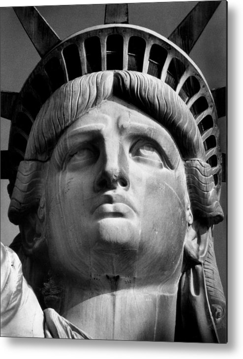 Aegis Metal Print featuring the photograph Statue of Liberty by Retro Images Archive