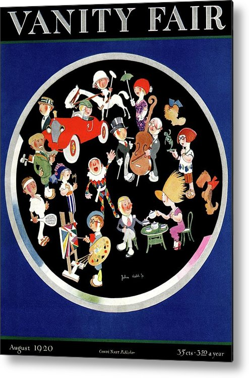 Illustration Metal Print featuring the photograph Vanity Fair Cover Featuring Caricatures Doing by John Held Jr