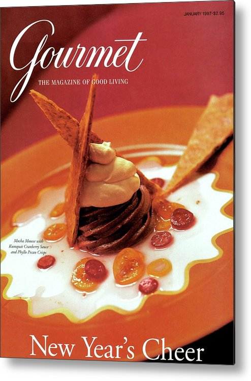 Food Metal Print featuring the photograph A Gourmet Cover Of Moch Mousse by Romulo Yanes