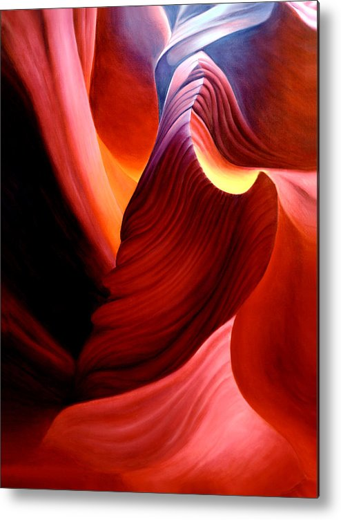 Antelope Canyon Metal Print featuring the painting Antelope Magic by Anni Adkins