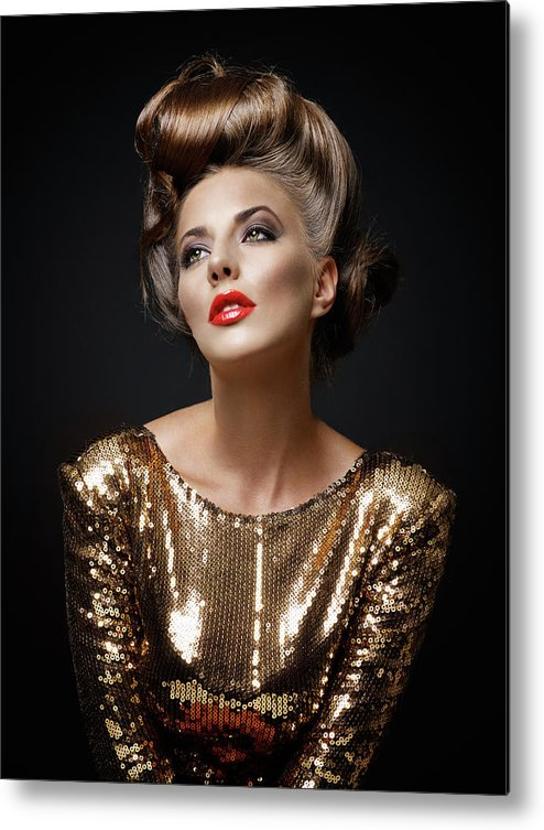 Cool Attitude Metal Print featuring the photograph Beautiful Woman by Millann
