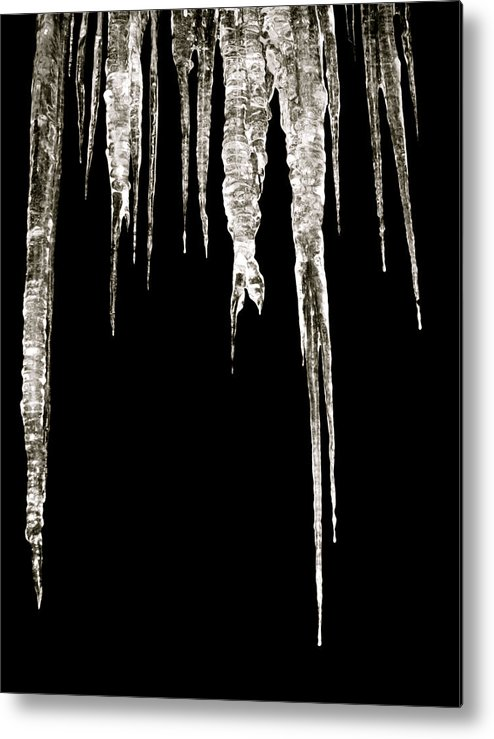 Icicle Metal Print featuring the photograph Dark Ice by Azthet Photography