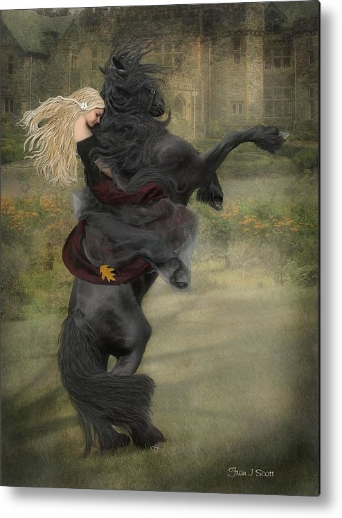 Horses Metal Print featuring the mixed media Dream a little dream... by Fran J Scott