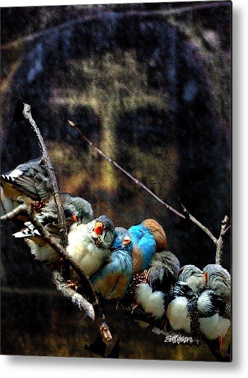 His Eye Is On The Sparrow Metal Print featuring the digital art His Eye Is On The Sparrow by Seth Weaver
