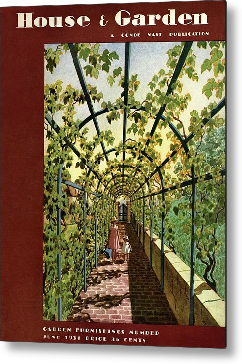 House & Garden Metal Print featuring the photograph House & Garden Cover Illustration Of Young Girls by Pierre Brissaud