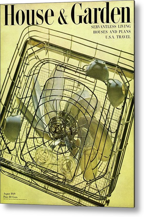 House And Garden Metal Print featuring the photograph House And Garden Servant Less Living Houses Cover by Herbert Matter