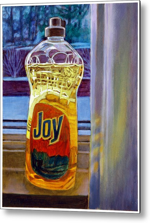 Still Life Metal Print featuring the painting Joy by John Lautermilch