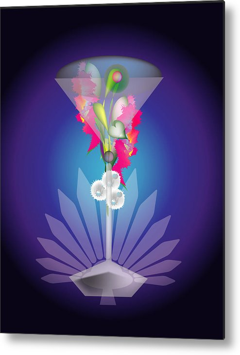 Martini Metal Print featuring the digital art Martini Flower by George Pasini