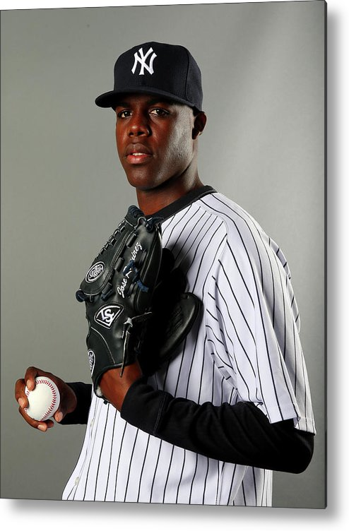 Media Day Metal Print featuring the photograph New York Yankees Photo Day by Elsa