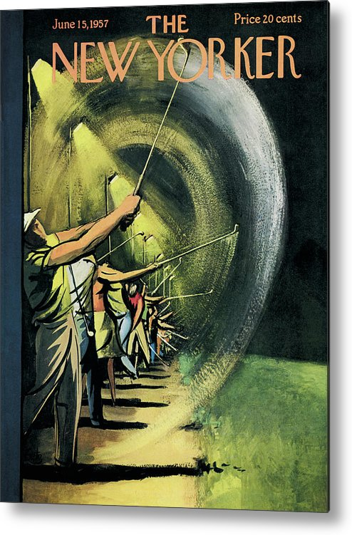 Golf Metal Print featuring the painting New Yorker June 15th, 1957 by Arthur Getz