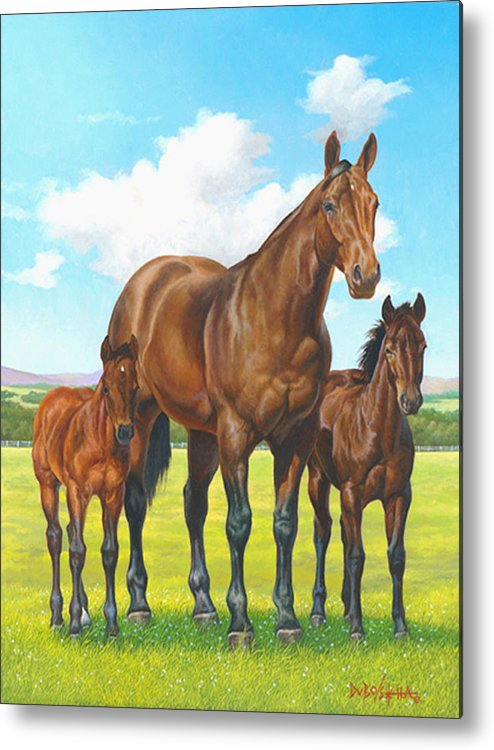 Poco Lena Metal Print featuring the painting P0c0 Lenas Legacy by Howard DUBOIS