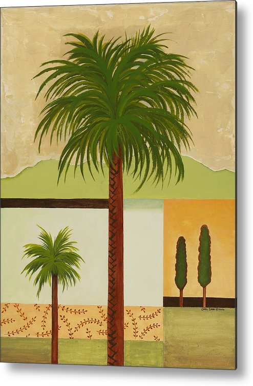 Palm Trees Metal Print featuring the painting Palm Desert by Carol Sabo