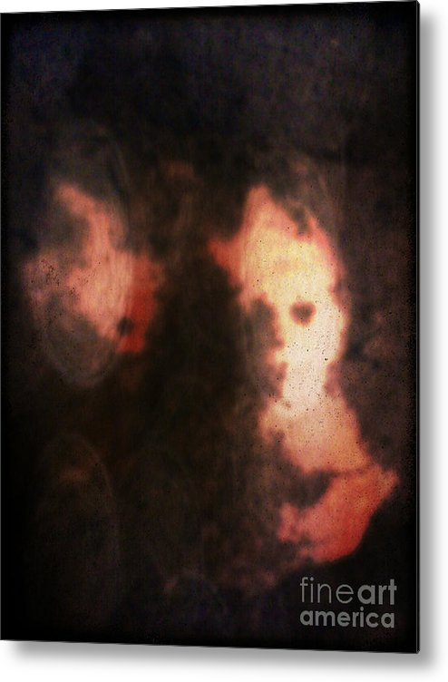 Abstract Metal Print featuring the mixed media Reish by Daniel Brummitt