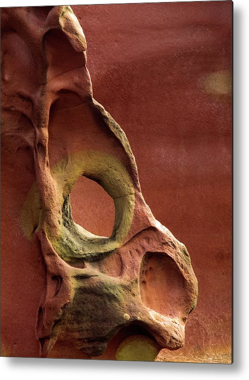 Geology Metal Print featuring the photograph Sinister Forms by By Mediotuerto